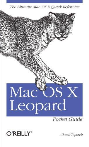 Mac OS X Leopard Pocket Guide by Chuck Toporek (2007-11-16) par Chuck Toporek