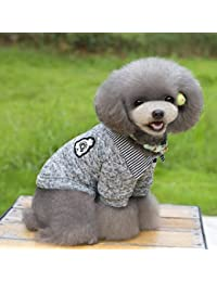 Gugutogo Estilo Coreano Pet Dog Cat Sweater Cachorro Fleece Coat 2-Legs Woolen Sweaters (Color: Gris) (Tamaño: XXL)