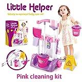 Hzl Putzset Kinder Spielzeug-Putz-Set für Kinder (Kinderspielzeug),pinkcleaningkit