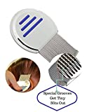 Nit Free Lice Comb, Professional Stainless Steel Louse and Nit Comb for Head Lice Treatment 1 Piece