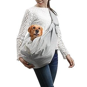Ownpets Reversibele Hundetasche Single-Schulter Sling Bag Haustier Hund Katze Tasche Rucksack für Hunde Hunderucksack Transporttasche Katze Tragetasche Haustier Reise Umhängetasche Tragetuch (für kleine hunde)