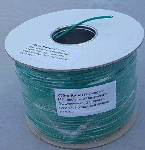 250m Kabel (2,7mm) für Husqvarna Automower / Gardena R40LI R70LI Sileno Sileno+