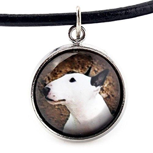 ArtDog Ltd. Bullterrier, Halskette für Menschen, die Hunde lieben, Foto-Schmuck, Handgefertigt