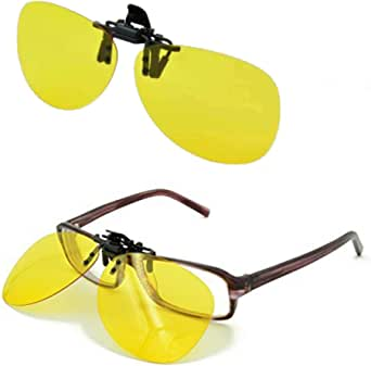 Clip On Occhiali da Guida UV/Riduce Riflesso From Fari, Neve, Sole, per Tutti Occhiali