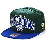 Mitchell & Ness Gorras Minnesota Timberwolves Team Arch Green/Blue Snapback
