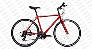 Suncross EQUINOX Bicycle, 20.5 IN (Red White,Black Grey)