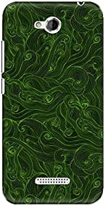 The Racoon Lean printed designer hard back mobile phone case cover for HTC Desire 616. (Squiggly D)
