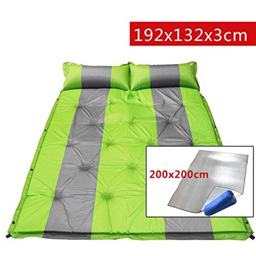 TYJ Picknick-Decken Outdoor Feuchtigkeitsbeständige Pad Double Nap Pad Zelt Automatik Aufblasbare Pad 192 * 132 * 3cm ( Farbe : Grün , größe : 192*132*3cm )