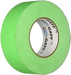Pro Tapes Pro-Gaff-Neon Premium Fluorescent Gaffers Tape: 2 in. x 50 yds. (Leuchtendes Grün)