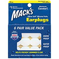 Macks Pillow Soft Moldable Silicone Putty Earplugs 6 Pairs x 3 (18 Pairs) preisvergleich bei billige-tabletten.eu