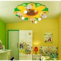Piccola lampada bambino ape fiore Cartoon ragazzi e ragazze camera da letto caldo plafoniera