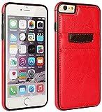 TPU Schutzhülle Case Cover Bumper für ihr Sony Xperia Z5 Compact E5823 mit PU-Lederrücken in Rot