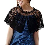 Damen Bolero Für Abendkleid Festlich Elegant Zu Abendkleid Vintage Spitze Transparent Abschlussball Schal Bolerojacke Hochzeitsjacke Abendjäckchen Große Größen