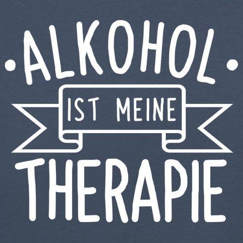 Alkohol ist meine Therapie - Herren T-Shirt - 13 Farben Navy