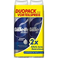 Gillette Series Sensitive Rasierschaum, Doppelpack 250 ml, 6 Stück (3 x Doppelpack x 250 ml)