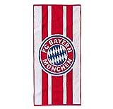 FC Bayern Badetuch Frottier rot/weiß Größe 90x180 cm