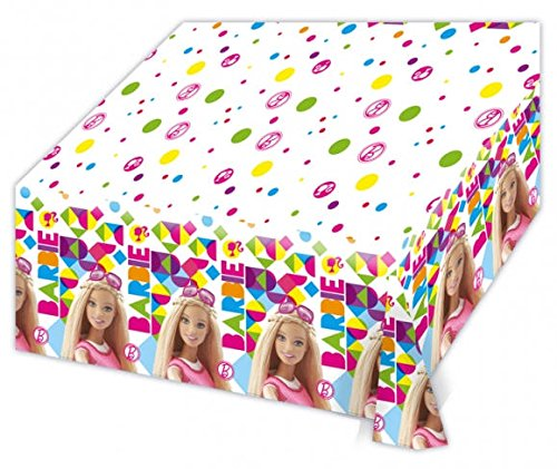 Amscan 999933 1,2 x 1,8 m Barbie Sparkle Kunststoff Tisch Cover (Box Barbie Halloween)