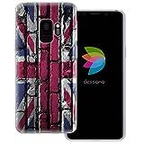 dessana England Transparente Silikon TPU Schutzhülle 0,7mm dünne Handy Tasche Soft Case für Samsung Galaxy S9 England Flagge
