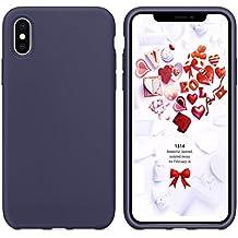 Cover iPhone X, Custodia iPhone X, Humixx Flessibile Gel Silicone Rubber Cover Con Morbido Cuscino In Microfibra,Antigraffio Anti Skid Soft Touch Protettiva Case /Silk Series/