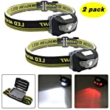 Blinkle Head Torch Super Bright CREE LED White & Red LEDs Headlamps,Adjustable Strap