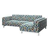 Soferia - Bezug fur IKEA NOCKEBY 2er-Sofa mit Recamiere, rechts, Mozaik White