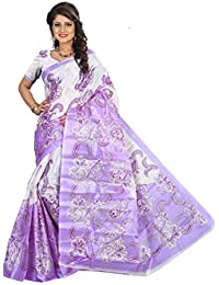 Sarees New Diwali Collection Latest Of 2017 By SVB Printed Sarees Women's Bhagalpuri Art Silk Saree Without Blouse...