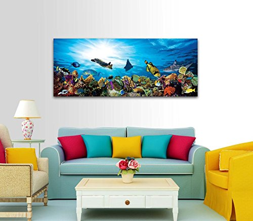 Printelligent Framed Paintings and Panoramic Art Prints for Home and Office Decor. Framed on 5MM Sunboard Gloss Finish. (25 inch x 10 inch)