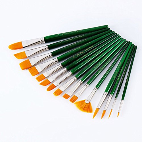 pixnor-punta-rotonda-vernice-pennelli-arte-set-per-olio-acrilico-acquerello-pittura-15pcs