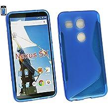 Emartbuy® LG Nexus 5X Ultrafina a Presión TPU Gel Funda Carcasa Case Cover Azul