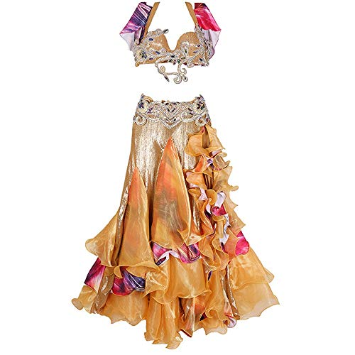 Cvbndfe Tanzkleid für Frauen Womens Bauchtanz Kostüm