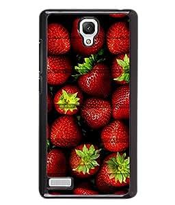 PrintVisa Metal Printed Strawberry Designer Back Case Cover for Xiaomi Redmi Note-D5088