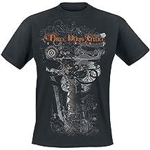 Three Days Grace Human - Another Gear T-Shirt Nero XXL