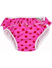 Imse Vimse - Maillot de bain-couche lavable - L 9-12kg - Pink Dots with frill