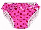 Imse Vimse - Maillot de bain-couche lavable - XL 11-14kg - Pink Dots with frill