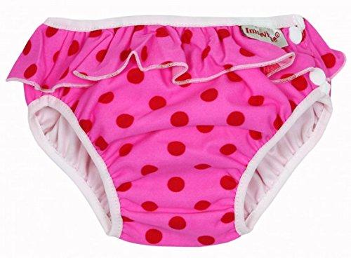 Imsevimse, Badehose für Babys, Schwimmwindel, XL 11-14kg, Rosa