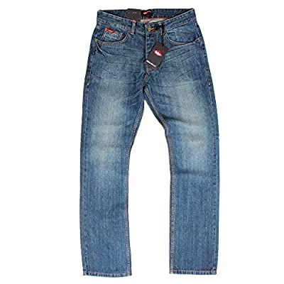 Lee Cooper Basicon Mid Wash Straight Leg Mens Blue Jeans