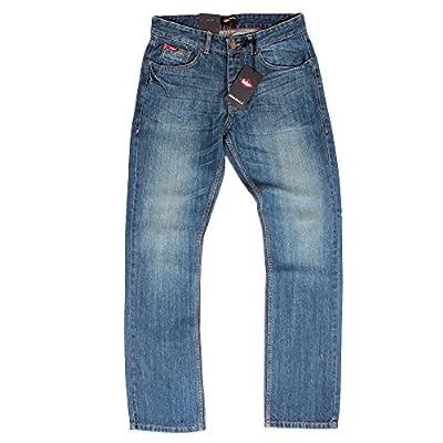 Lee Cooper Basicon Mid Wash Straight Leg Mens Blue Jeans