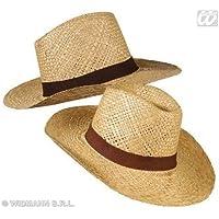 Cappello di paglia di safari Banda di cappello nero