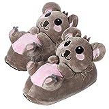 corimori-(10 + modelos) Hugo el Koala Zapatillas De Casa Mujer, color marrón, Talla Única 34-44 (1847)