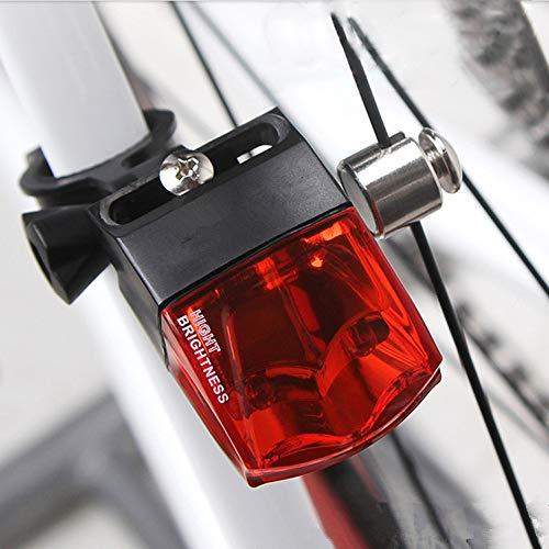 SICOFD LED Beleuchtungsset, Warnlicht, Stroboskoplicht, Fahrrad Beleuchtung, Elektromagnetische Induktion Beleuchtung, Nein Aufladbar Batterie, Wasserdicht IPX4 Für Rennrad MTB (Schwarz)