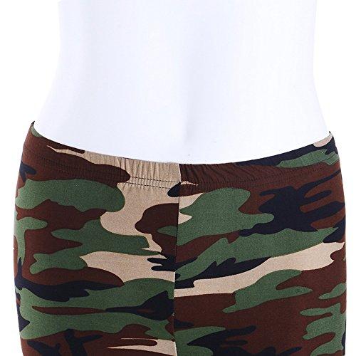 laamei 1pc Legging Pantalon de Sport Mode Femme Yoga Fitness Gym Respirant Sechage Rapide Camouflage Pantalon camouflage