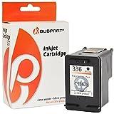 bubprint cartucho impresión compatible con HP 336 NEGRO C9362EE cartucho de tinta
