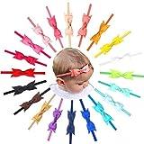 Ripsband-Haarschleife für Kleinkinder, schmales Haarband, 20 Stück