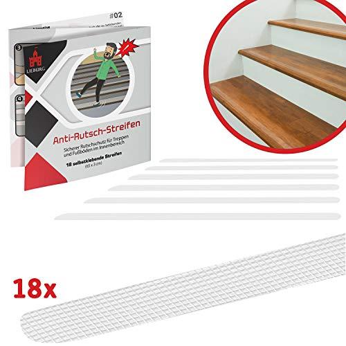 transparent 15 Anti-Rutsch Streifen f/ür Treppen 65x3cm Stufe