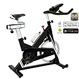 AsVIVA Indoor Cycle Speedbike S14 Bluetooth | inkl. SPD Klickpedale & Brustgurt...