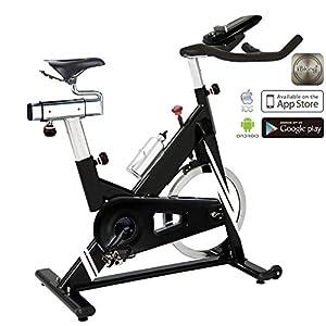 AsVIVA Unisex– Erwachsene Indoor Cycle & Speedbike S14 Bluetooth Indoorcycle schwarz, One-Size
