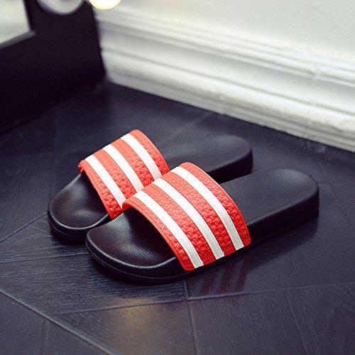DogHaccd pantofole,Cool pantofole estate femmina bagno interno anti-slittamento soggiorno di casa con un paio di moda, indossando un fresco stile spiaggia e maschio Rosso di grandi dimensioni1