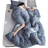 Quilt Frühling und Herbst Single Doppel-Klimaanlage ist Studentenschlafsaal Quilt Dicke Winterdecke Quilt Space ist Kinderbettausstattung (Color : Blue, Size : 220 * 240cm(4kg))