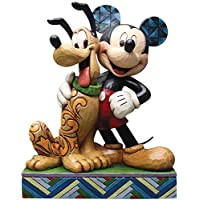 Jim Shore for Enesco Disney Traditions Mickey & Pluto Figurine, 6 by Jim Shore for Enesco