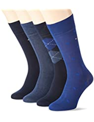 Tommy Hilfiger Th Men Argyle Box 4p, Chaussettes Homme, (lot de 4
